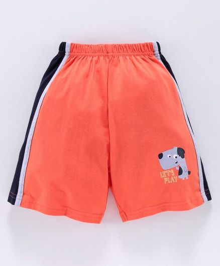 Taeko Mid Thigh Shorts Puppy Print - Orange