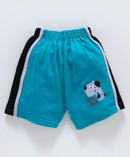 Taeko Mid Thigh Shorts Puppy Print - Blue