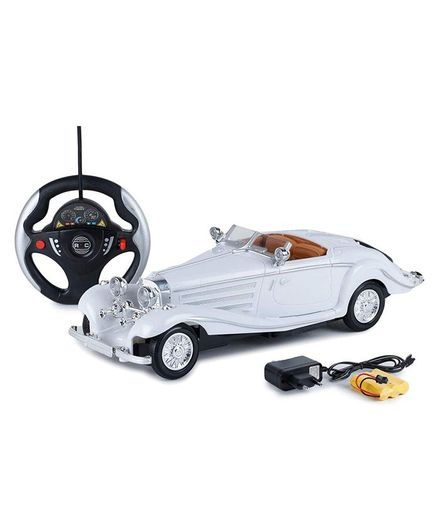 Webby Classic Vintage Remote Controlled Racing Car - White
