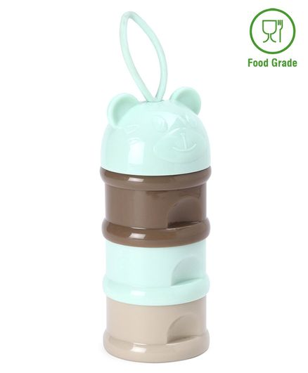 Milk Powder Container Kitty Shaped Top - Multicolor