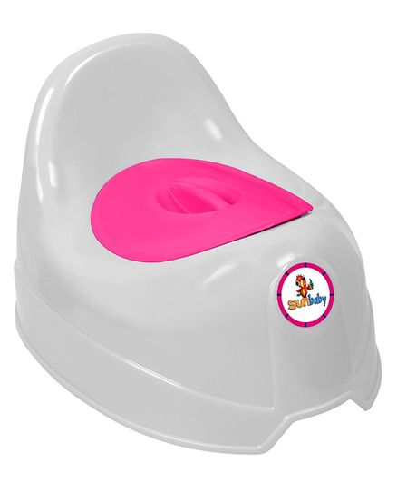 Sunbaby Potty Trainer Seat - White Pink