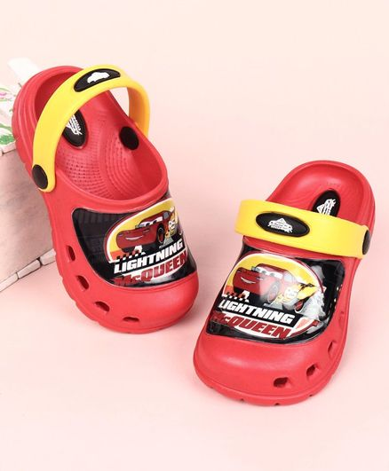 Cute Walk by Babyhug Clogs with Back Strap Disney Pixar Cars Print - Red