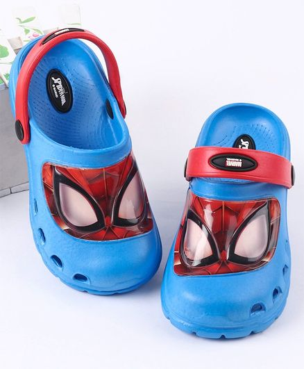 Cute Walk by Babyhug Clogs Spiderman Print - Blue