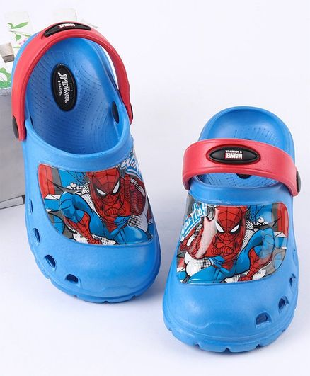 Cute Walk by Babyhug Spiderman with Back Strap Print - Blue