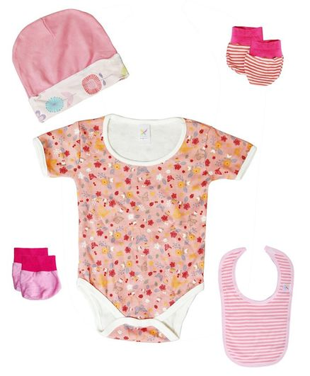 Colorfly Baby Clothing Set Pack of 5 - (Color May Vary)