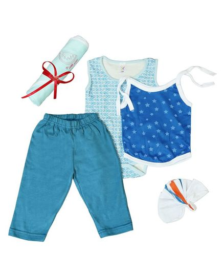 Colorfly Baby Clothing Gift Set Pack of 5 - (Color May Vary)