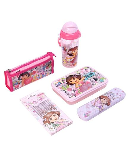 Dora The Explorer School Kit Pink Pack Of 5 Print May Vary Online In India Buy At Best Price From Firstcry Com 3257220