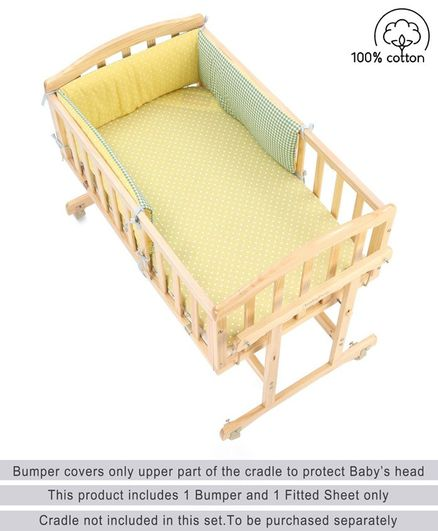 Babyhug Premium Cradle Bumper with Fitted Crib Sheet Farm Theme - Multicolor