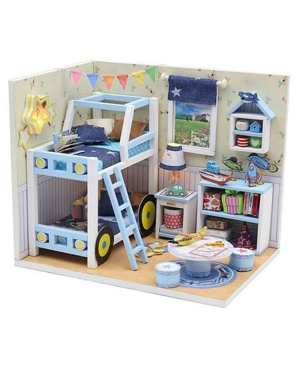 Webby DIY Miniature Doll House - Blue