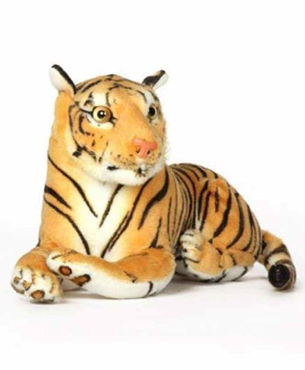 Deals India Tiger Stuff Toy Brown - Height 32 cm