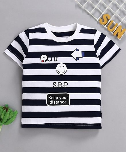 Kookie Kids Half Sleeves Tee Navy 110 male