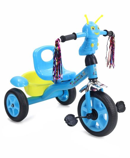 Tricycle with Rear Basket - Blue