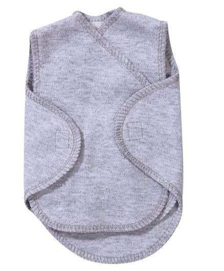 Preemie-Yums Solid Sleeveless Wrap Shirt - Grey