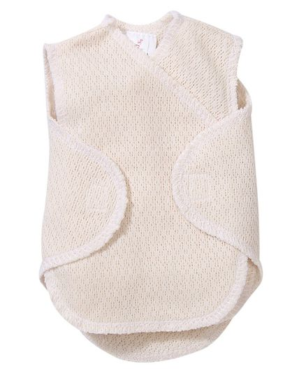 Preemie-Yums Solid Sleeveless Wrap Shirt - Beige