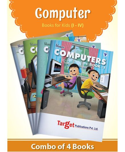 Target Publication Blossom Basic Knowledge of Computer Learning Books Level 1 to 4 Set of 4 - English