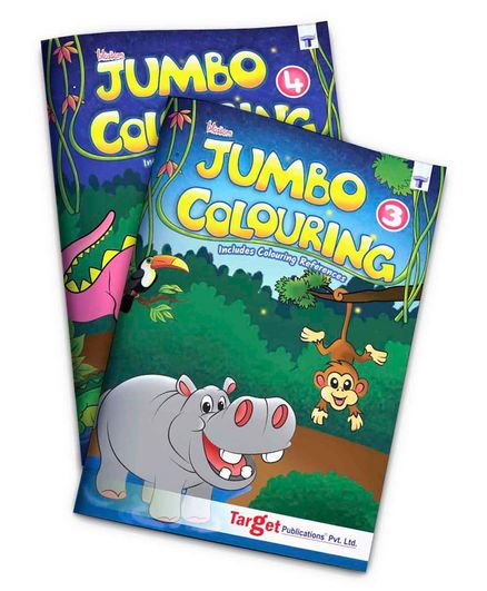 Target Publications Blossom Jumbo Creative Colouring Books Pack of 2 - English