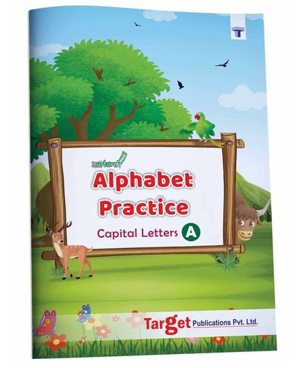 Target Publications Nurture Alphabet Tracing & Writing Practice Book - English