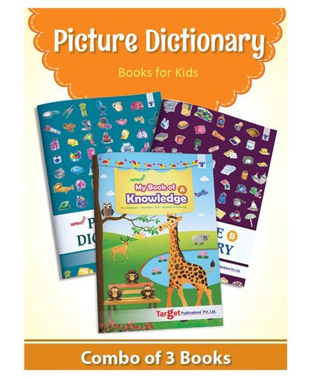 Target Publication Picture Dictionary Books Pack of 3 - English
