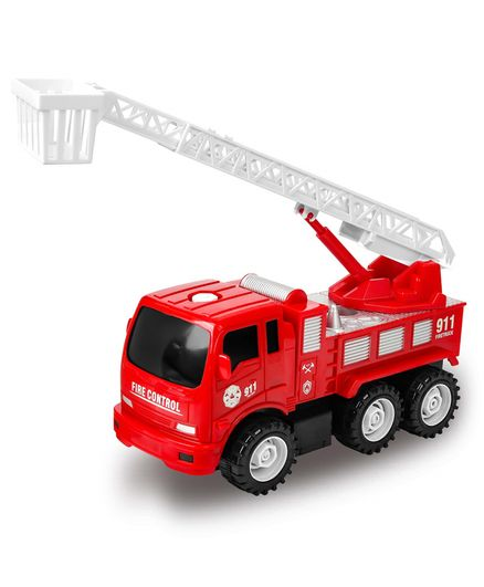 Playhood Fire Engine Pull Back Truck Toy - Red