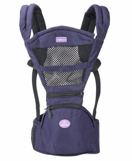 Baby Hipseat Carrier with 5 Carry Positions - Navy Blue