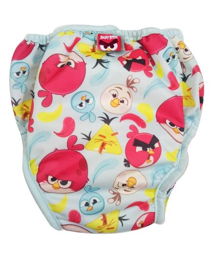 Angry Birds Reusable Cloth Diaper Medium - Blue