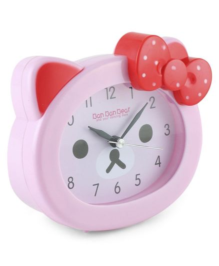 Face Shape Clock - Pink Red