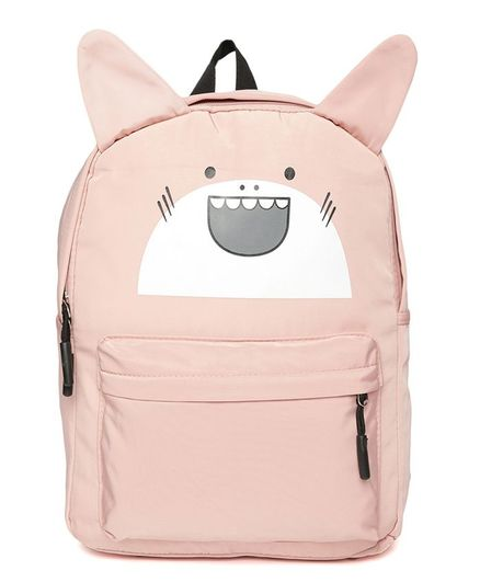 Kids On Board Ear Applique Backpack - Peach