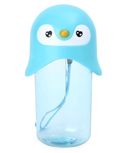 Water Bottle With Face Design Cap Blue - 420 ml