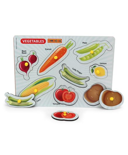 Omocha Pegged Vegetable Puzzle - 8 Pieces
