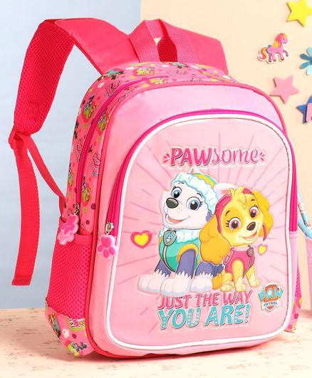 Paw Patrol School Bag Pink - 12 Inches