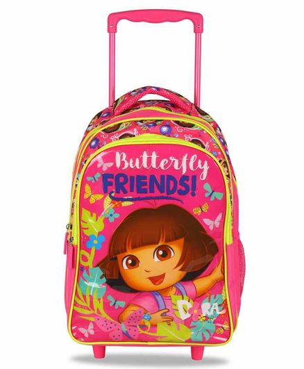 Dora Trolley Bag Pink - 16 Inches