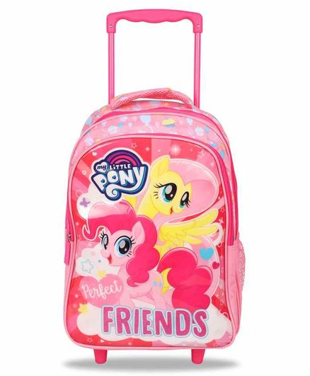 My Little Pony School Trolley Bag Pink - 16 Inches