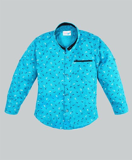TOONYPORT Star Print Full Sleeves Shirt - Blue