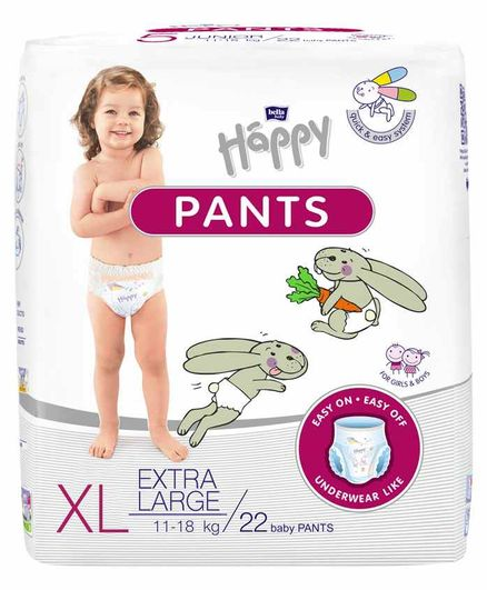 Bella Baby Happy Pants Extra Large - 22 Pieces