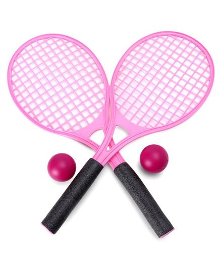 Peppa Pig Tennis Bat Set With Balls - Pink
