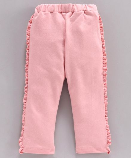 Babyhug Full Length Frilled Lounge Pant - Pink