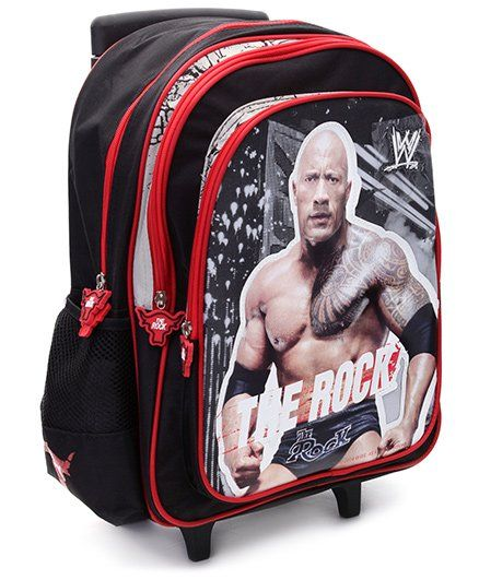 WWE The Rock Trolley Back Pack - 16 Inches