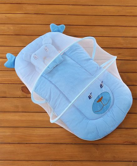3ae6356d0 Babyhug Velvet Baby Bedding Set With Mosquito Net Blue Online in ...