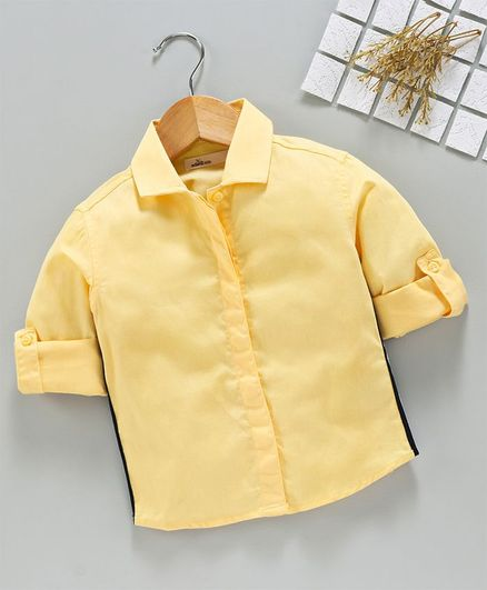 Adams Kids Solid Full Sleeves Shirt - Yellow