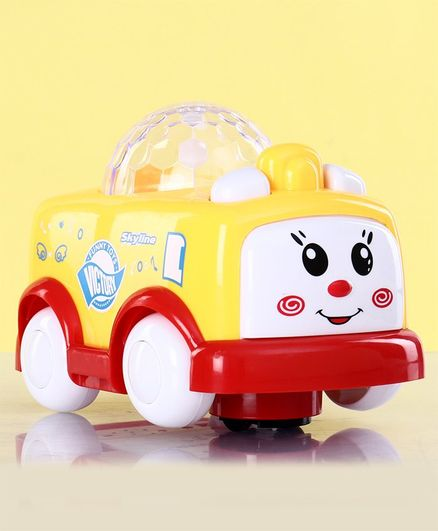 Toy Car with Music & Lights - Yellow