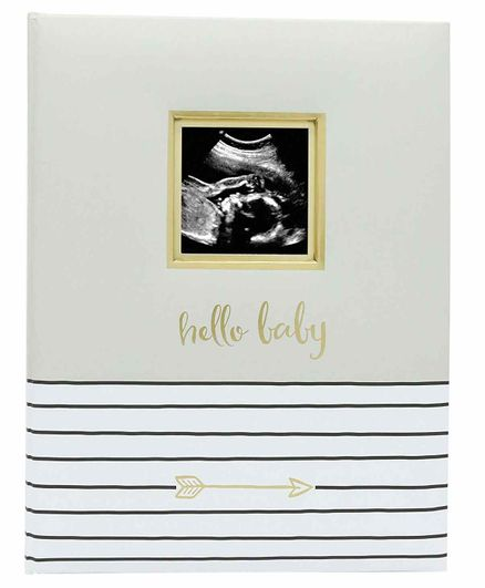 Pearhead Hello Baby Book Grey - 50 Pages