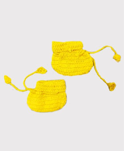 Knitting By Love Solid Booties - Yellow