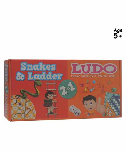 Pegasus 2 in 1 Ludo and Snakes & Ladder Board Game - Multicolor