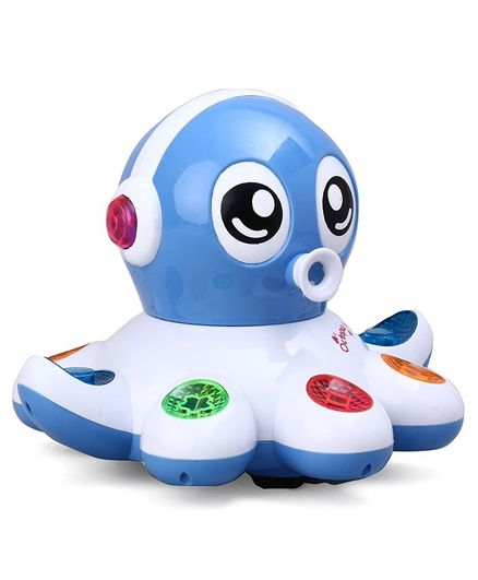 Musical Octopus Toy With Lights & Music - Blue