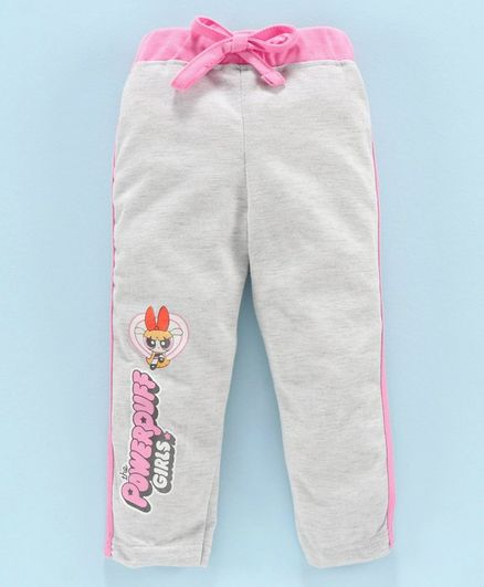 Eteenz Full Length Track Pant The Powerpuff Girls Print - Grey