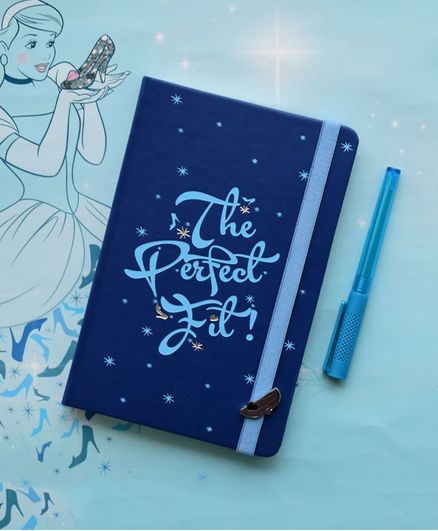 Doodle Disney Cinderella Diary Shoe Applique Blue - 192 Pages