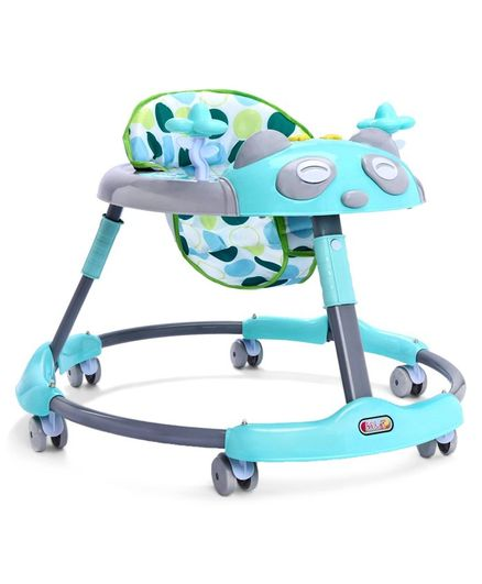Baby Walker with Child Play Tray - Blue (Print May Vary)