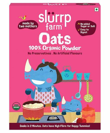 Slurrp Farm Organic Oats Powder - 250 gm