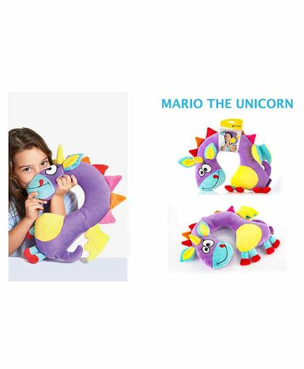 Travel Blue Neck Pillow Unicorn Design - Purple