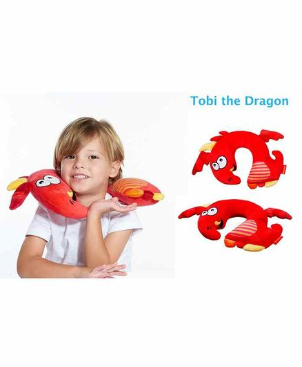 Travel Blue Tobi The Dragon Neck Pillow - Red